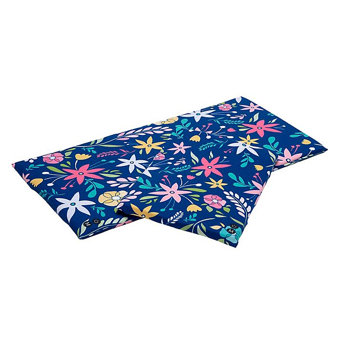 Alternate image 1 for Tranquilo™ Soothing Mat Flower Power Slipcover in Blue