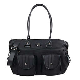 Oioi Large Travel Sized Diaper Bag in Black