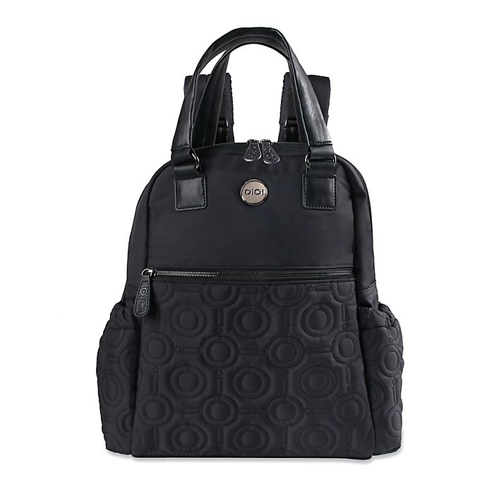 Alternate image 1 for OiOi Quilted Backpack Diaper Bag in Black