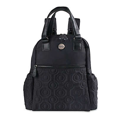 OiOi Quilted Backpack Diaper Bag in Black