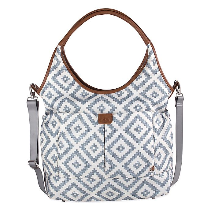 Alternate image 1 for OiOi Aztec Print Slouch Bucket Diaper Bag