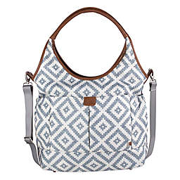 OiOi Aztec Print Slouch Bucket Diaper Bag  in Grey