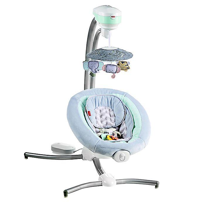 Alternate image 1 for Fisher-Price® Sweet Surroundings Cradle 'n Swing in Grey/Green