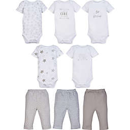 MiracleWear Size 6-12M Neutral 5-Pack Bodysuit & 3-Pack Pants Set