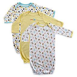 Luvable Friends 3-Pack Cotton Infant Gowns