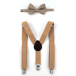 2a3c0e79098 Rising Star™ Infant Toddler 2-Piece Suspender and Bowtie Set in Brown