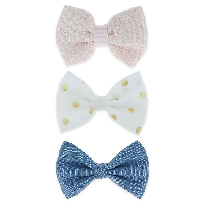 Alternate image 1 for Capelli New York 3-Pack Bow Hair Clips