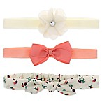 Capelli New York 3-Pack Flower, Bow and Print Headbands