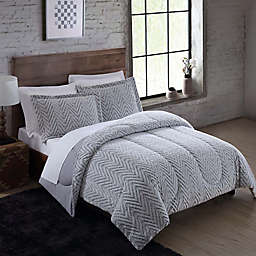 Faux Fur 3-Piece Comforter Set