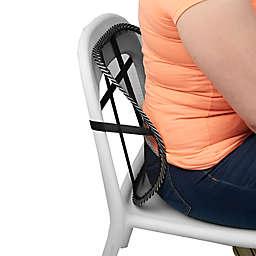 Mind Reader Adjustable Lumbar Support Cushion in Black