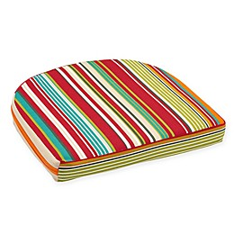 Stripe Outdoor Wicker Seat Cushion