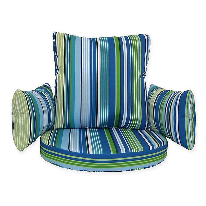 Groovy Stripe Outdoor Egg Chair Cushion Bed Bath Beyond Lamtechconsult Wood Chair Design Ideas Lamtechconsultcom