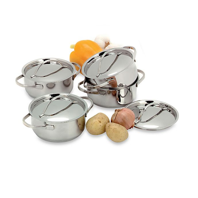 Alternate image 1 for Demeyere 4-Piece Covered Mini Dutch Oven Set