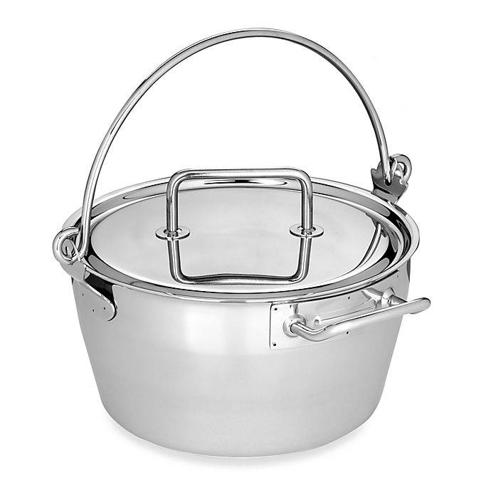 Alternate image 1 for Demeyere 10.6-Quart Stainless Steel Masl in Pan with Lid