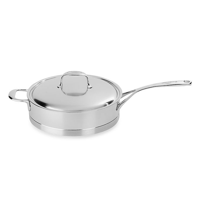 Alternate image 1 for Demeyere Atlantis 2.6 qt. Stainless Steel Sauté Pan with Lid