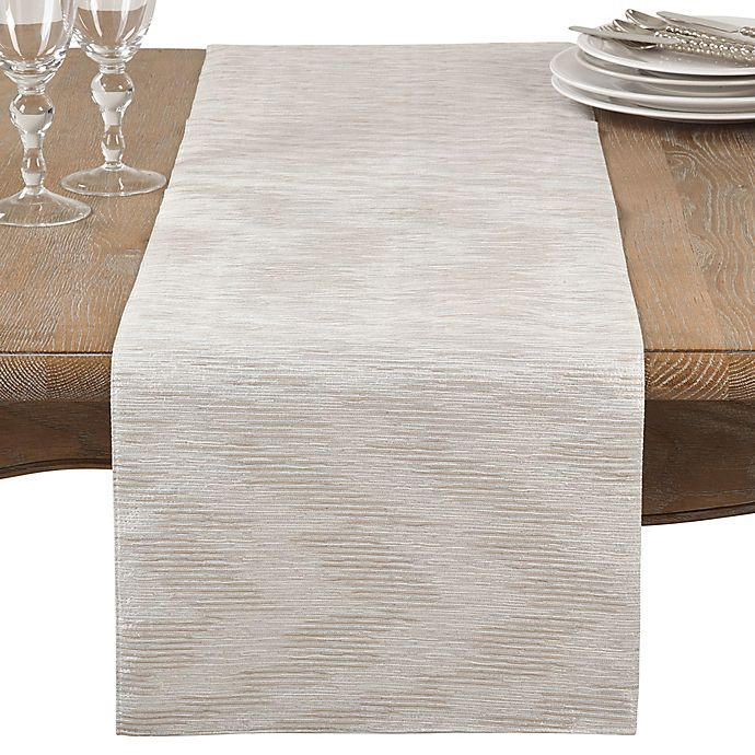 Alternate image 1 for Saro Lifestyle Evelina 68-Inch Table Runner in Silver