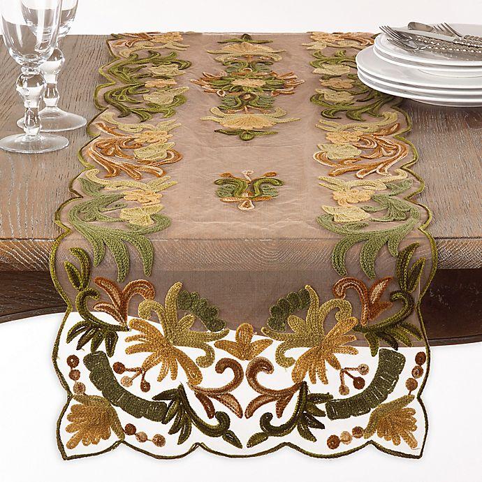 Alternate image 1 for Saro Lifestyle Alessandra Table Runner