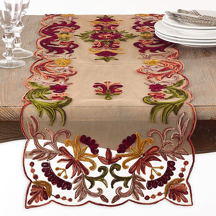 Alternate image 1 for Saro Lifestyle Alessandra 72-Inch Multicolored Table Runner