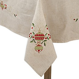 Saro Lifestyle Holly Ornament Table Linen Collection