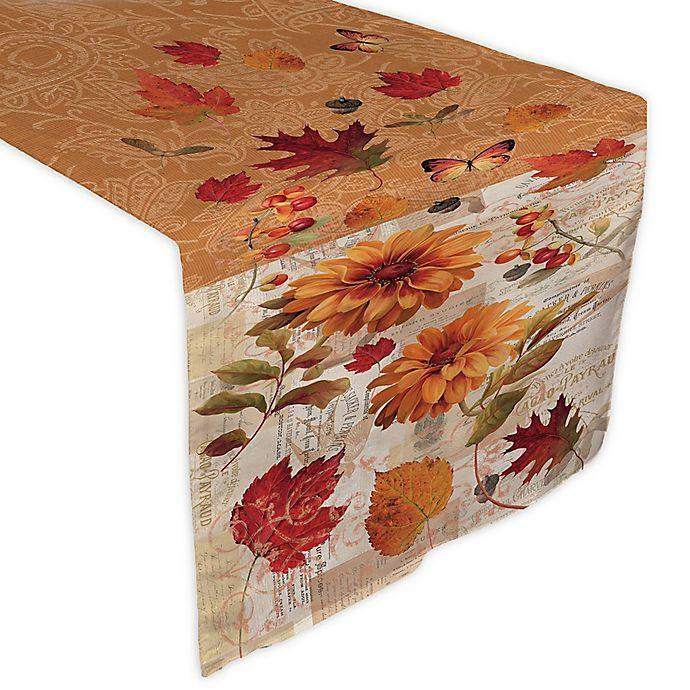 Alternate image 1 for Laural Home® Fall in Love Table Runner in Orange