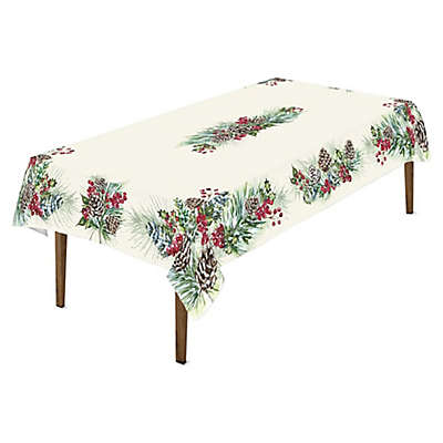 Laurel Home® Winter Garland Tablecloth