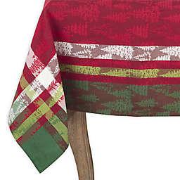 Saro Lifestyle Christmas Tree Plaid 70-Inch Square Tablecloth