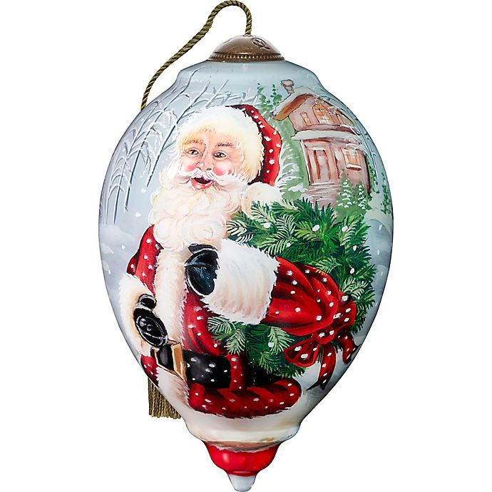 Alternate image 1 for Precious Moments® Santa's Holiday Wreath Christmas Ornament