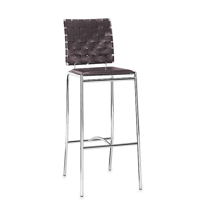 Alternate image 1 for Zuo® Modern Criss Cross Bar Chairs in Espresso (Set of 2)