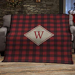 Cozy Cabin Personalized Buffalo Check Blanket