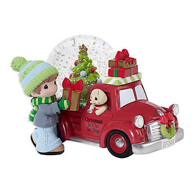 Precious Moments® Holiday Musical Red Truck Snow Globe