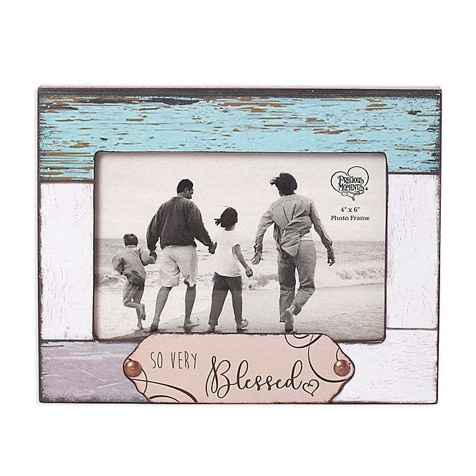Alternate image 1 for Precious Moments® So Very Blessed 4-Inch x 6-Inch Wood Picture Frame