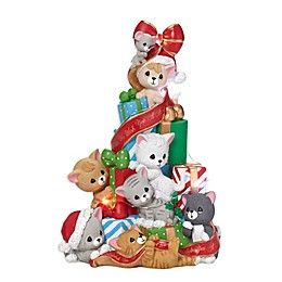 Precious Moments® Holiday Cat and Mouse Musical LED Christmas Tree