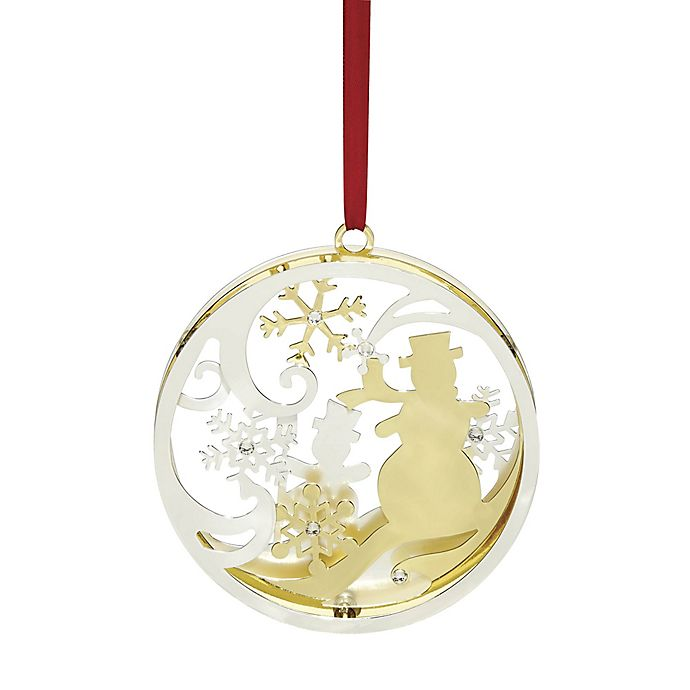 Lenox 174 Stamped Snowman Christmas Ornament Bed Bath Amp Beyond