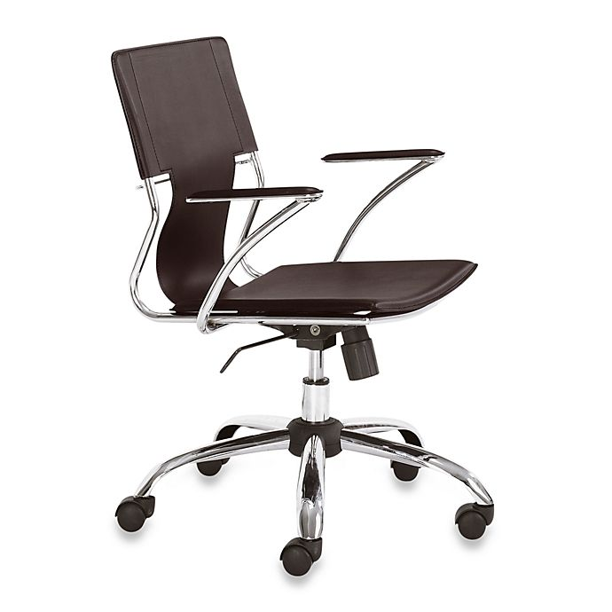 Sensational Zuo Modern Faux Leather Swivel Office Chair In Espresso Evergreenethics Interior Chair Design Evergreenethicsorg