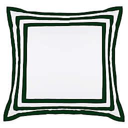 Wamsutta® Hotel Border MICRO COTTON® European Pillow Sham in White/Forest