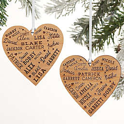 2-Sided Close To Her Heart Personalized Wood Ornament