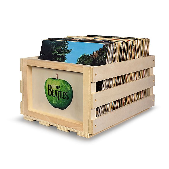 Crosley Record Storage Crate The Beatles In Apple Bed Bath Beyond