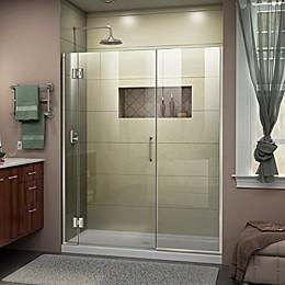 DreamLine® Unidoor-X 60-60.5-Inch x 72-Inch Frameless Hinged Shower Door