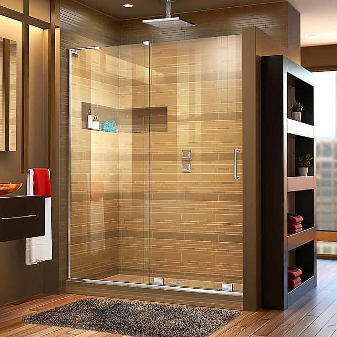 Alternate image 1 for DreamLine® Mirage-X 44-48-Inch x 72-Inch Left Frameless Sliding Shower Door in Chrome