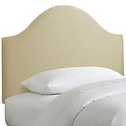 Skyline Furniture Curved Headboard in Sandstone Linen