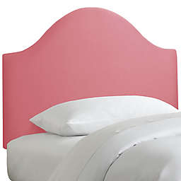 Skyline Furniture Curved Headboard in Linen Coral