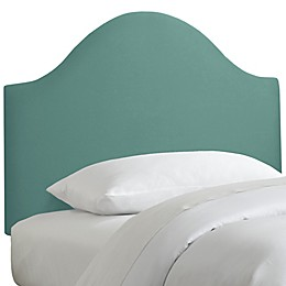 Skyline Furniture Curved Headboard in Linen Laguna
