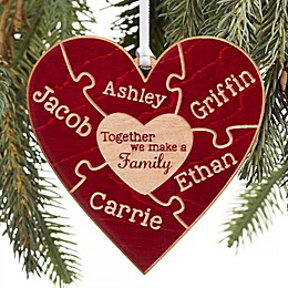 Together We Make A Family Personalized Wood Ornament