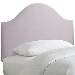 Skyline Furniture Curved Headboard in Linen Smokey Quartz