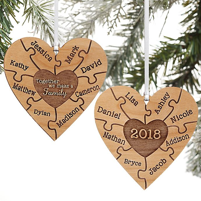 Alternate image 1 for Together We Make A Family Personalized 2-Sided Ornament