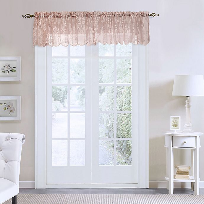 Alternate image 1 for Commonwealth Home Fashions Columbus Tailored Window Valance in Pink