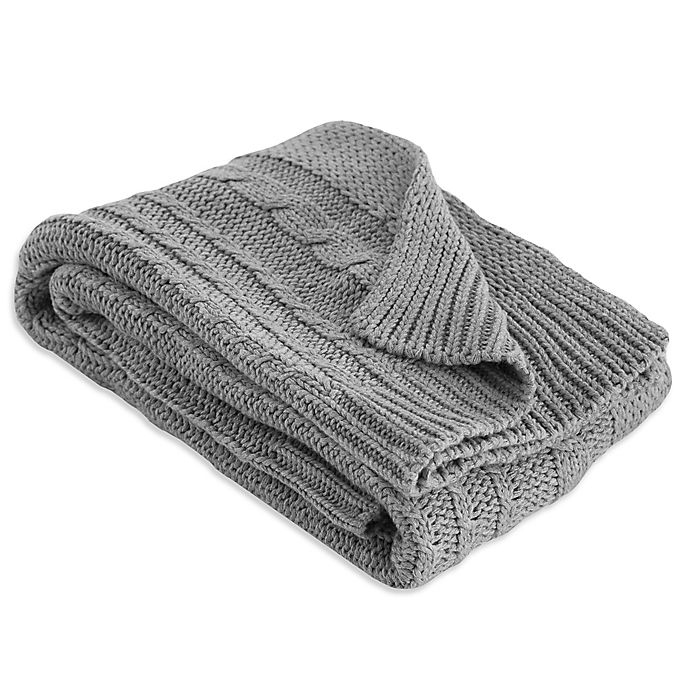 Alternate image 1 for Burt's Bees Baby® Organic Cotton Cable Knit Blanket