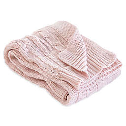 Burt's Bees Baby® Organic Cotton Cable Knit Blanket in Blossom