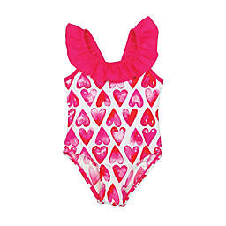 Floatimini 1-Piece Hearts Ruffle Swimsuit