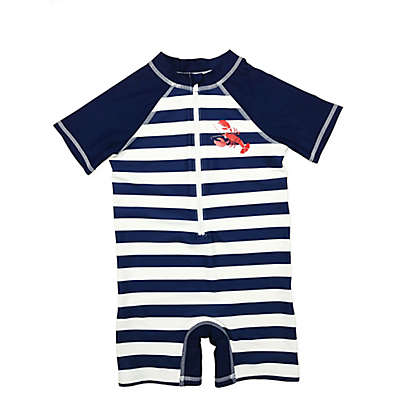 Floatimini® Striped Scuba Suit in Navy